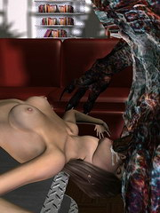 The vampire was handling girls slim body, moving her up and down on his cock;